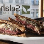 Special: Reuben with all-natural roast beef, swiss, sauerkraut, and homemade russian.