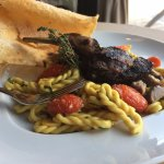 Lorighettas Pasta with goat and roasted tomatoes