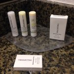 nice complimentary Paul Mitchell lotions, soap, shampoo and conditioners. Love the smell of thes