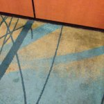 Elevator floor carpets.
