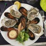 assiettes de fruits de mer