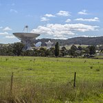 View of the radio telescopes