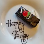 complimentary birthday cake in room on arrival