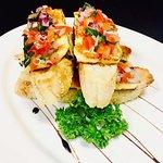 Bruschetta - Tomato, basil, spanish onion & grilled haloumi  on toasted turkish