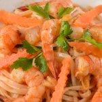 Vermicelle de riz aux crevettes