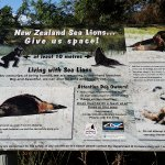 Sealion info sign
