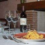 Spaghetti alla carbonara e tartufo