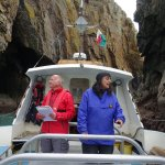 The guides taking us up close into the rocky bays around Ramsey Island