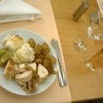 roast turkey , roast potato , cauliflower