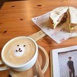 Brown sugar latte with cute bear art