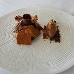 Un dessert sur le thème du chocolat avec un superbe chocolat P125, un concentré de cacao unique