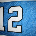 Copy of the 12's Flag that has been signned by visitors