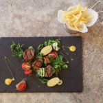 Grilled beef fillet with salad