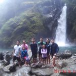 Our group, with Mother Falls at the back