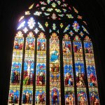A colourful example of a stained glass window