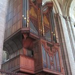 The beautifully designed organ