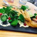 R&C smoked mackerel, watercress & pomegranate salad
