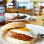 Sausage Butty with fried egg