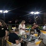Tables set for Business Dinner Meet
