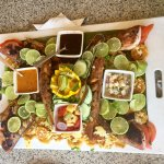 Chef Olger at Papagayo prepared the snapper we caught. His presentation was out of this world. S