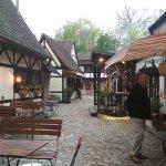 Restaurant exterior in gorgeous courtyard