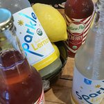 A large selection of craft sodas and teas.
