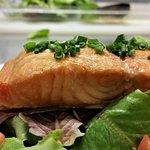 House smoked salmon salad.