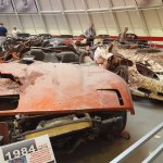 Some of the cars they pulled from the famous sinkhole