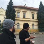 Pavel explaining the history of Terezin before it became a concentration camp.