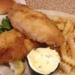 Hand Battered Fish-n-Chips served with house made Cole Slaw