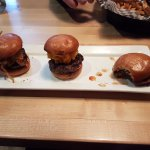 Three different burger sliders of my choice! Delicious!!