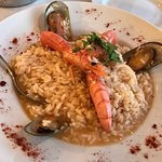 Exceptional seafood risotto