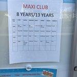 Maxi club itinary  Splash spark status 18/4/7