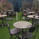 Private garden off our Orangery, perfect for private functions