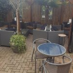 Lovely patio area (dog friendly)