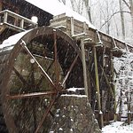 Michie Tavern's Grist Mill During Winter Storm