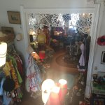 View if the vintage shop downstairs