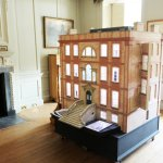 Model of the house on display in the house