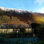 St. Mary's Church, Talyllyn, from the Patio Garden of the Pen-y-Bont Hotel.