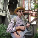 Wes Leslie performs a song from Summer of Love on Wild SF musical walking tour of Haight-Ashbury