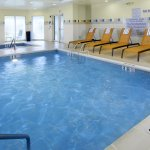 Enjoy our heated indoor pool and whirlpool, featuring lounge chairs and tables as well as towels