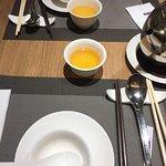 Place settings and jasmine tea