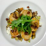 SCALLOPS,BUTTERNUT HASH, TRUFFLE CAUIFLOWER PUREE