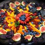 Fruit mandala platter