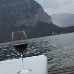 wine at the patio by the lake