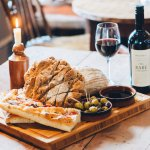 Locally sourced breads and specially selected red wines for you to enjoy