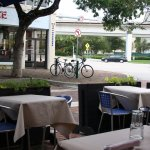 Outdoor seating, the famous view of US1