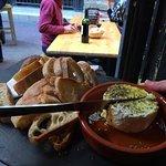 queso de cabra con aceite de oliva