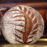 Miche- country sourdough made with whole wheat & rye flours