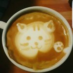 Coffee art by Ellis - compliments the excellent Verona Bean coffee!